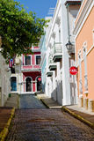 San Juan, Puerto Rico. Street in old San Juan, Puerto Rico Royalty Free Stock Photo