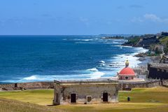 San Juan, Puerto Rico - April 02 2014: View overlooking Santa Maria Magdalena de Pazzis Cemetery stock photography