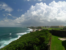 San Juan Puerto Rico and Atlantic Ocean Royalty Free Stock Images