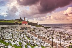 San Juan, Puerto Rico Cemetery Royalty Free Stock Photos