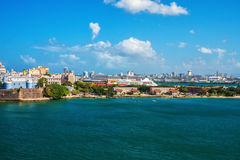 San Juan, Puerto Rico. City and cruise ship port of San Juan, Puerto Rico in the Caribbean stock images