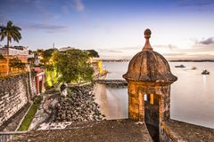 San Juan, Puerto Rico Coast Royalty Free Stock Photography