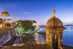 San Juan, Puerto Rico Coast Royalty Free Stock Photos