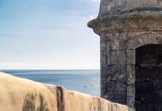 San Juan, Puerto Rico forteca i błękitny ocean, Obrazy Royalty Free