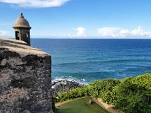 San Juan, Puerto Rico historic Fort San Felipe Del Morro. Royalty Free Stock Photo