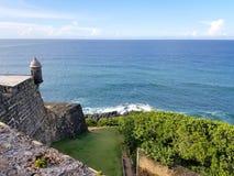 San Juan Puerto Rico historiskt fort San Felipe Del Morro Royaltyfria Bilder