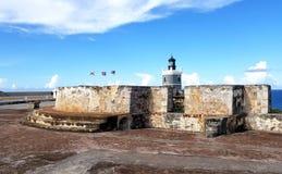 San Juan Puerto Rico historiskt fort San Felipe Del Morro Arkivfoto