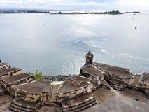 San Juan Puerto Rico historiskt fort San Felipe Del Morro Fotografering för Bildbyråer