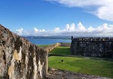 San Juan Puerto Rico historiskt fort San Felipe Del Morro Arkivbild