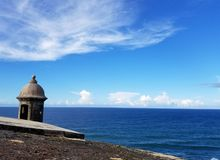 San Juan, Puerto Rico historyczny fort San Felipe Del Morro Zdjęcie Royalty Free