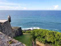 San Juan, Puerto Rico historyczny fort San Felipe Del Morro Obrazy Royalty Free