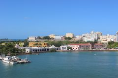 San Juan. Puerto Rico from the sea Stock Images