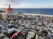 SAN JUAN, PUERTO RICO - SEP, 2017: Overview of the Cementerio de Royalty Free Stock Images