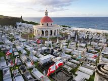 SAN JUAN, PUERTO RICO - SEP, 2017: Przegląd Cementerio de Fotografia Royalty Free