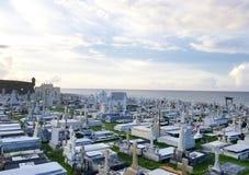 SAN JUAN PUERTO RICO - SEPTEMBER, 2017: Överblick av Cementerioen de Arkivfoton