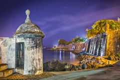 San Juan, Puerto Rico wybrzeże Obraz Stock