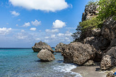 San Juan a remote stone Beach Royalty Free Stock Images