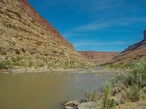 San Juan River en Utah imagen de archivo libre de regalías