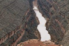 San Juan river from Goosenecks State Park Royalty Free Stock Photography