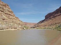 San Juan River Kayaking Stock Image