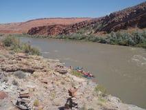 San Juan River Kayaking Royalty Free Stock Images