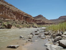 San Juan River Kayaking Stock Photo