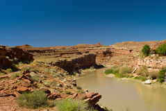 San Juan River near Monument Valley, Utah Stock Photo