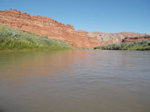 San Juan River Raplee Anticline Image stock