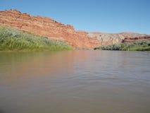 San Juan River Raplee Anticline Stock Image