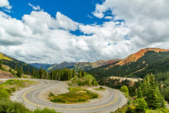 San Juan Skyway. The San Juan Skyway forms a 233 mile loop in southwest Colorado traversing the heart of the San Juan Mountains festuring breathtaking mountain Royalty Free Stock Image
