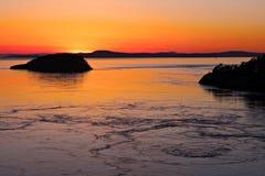 San Juan solnedgång Arkivbilder