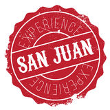 San Juan stamp. Grunge design with dust scratches. Effects can be easily removed for a clean, crisp look. Color is easily changed Royalty Free Stock Images