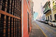 San Juan streets on a bright sunny day. Puerto Rico, San Juan streets on a bright sunny royalty free stock photo