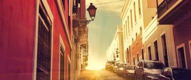 San Juan Streets - coucher du soleil tôt Image libre de droits