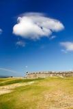 San Juan - temps de château d'EL Morro beau Images stock