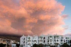 SAN JUAN, TENERIFE/SPAIN - 16. JANUAR 2015: Sonnenuntergang bei Callao S Lizenzfreies Stockbild