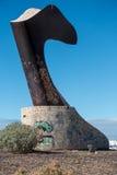 SAN JUAN TENERIFE/SPAIN - JANUARI 18, 2015: Alcaravan sculptur Royaltyfria Foton
