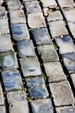 San Juan velho - diagonais azuis do Cobblestone imagem de stock royalty free