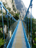San Juan Village suspension bridge Royalty Free Stock Image