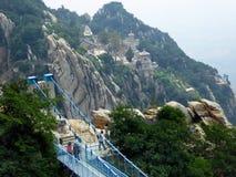 San Juan Village suspension bridge Stock Images