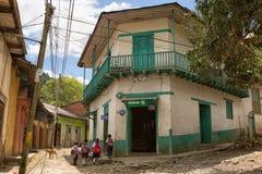 San Juancito Honduras gatasikt Royaltyfri Fotografi