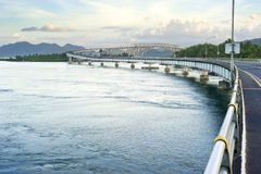 The San Juanico Bridge royalty free stock photo