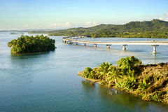 The San Juanico Bridge. View from Leyte, towards Samar. Philippines Royalty Free Stock Photography