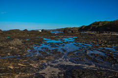 San Juanillo beach on both sides, Nicoya Peninsula, Costa Rica Royalty Free Stock Photography