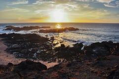 San Juanillo beach on both sides, Nicoya Peninsula, Costa Rica Royalty Free Stock Photo