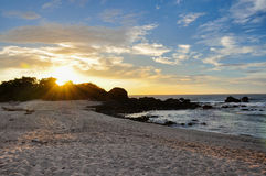 San Juanillo beach on both sides, Nicoya Peninsula, Costa Rica Royalty Free Stock Photos