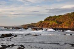 San Juanillo beach on both sides, Nicoya Peninsula, Costa Rica Stock Photos