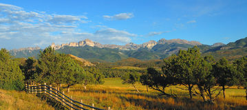 San Juans Range. Evening light and the San Juan Mountains Stock Photos