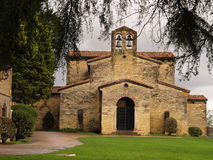 San Julian de los Prados. Also known as Santullano, is a Pre-Ramirense church from the beginning of the 9th century in Oviedo, the capital city of the Royalty Free Stock Photography