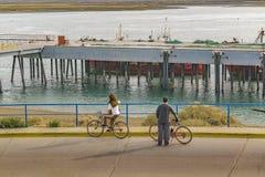 San Julian Urban Scene, Patagonia, Argentinien Stockfotos